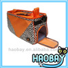 Orange and Leopard Pet Tote Pet Cage
