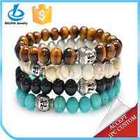 Different kinds of color stone buddha bracelets
