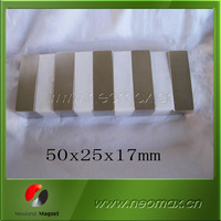 motor neodymium magnet,high power block magnet 50x25x17