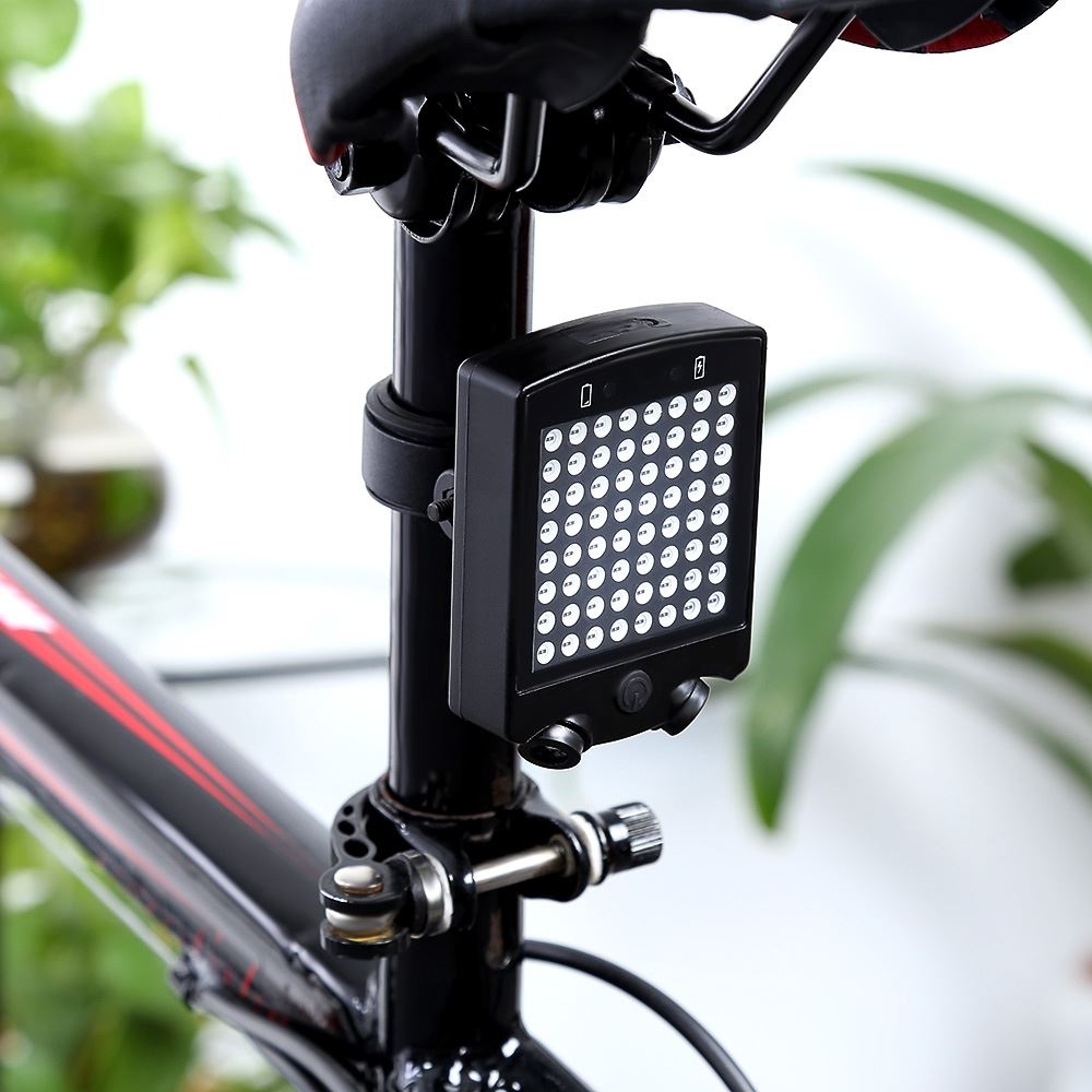 Bicycle Seatpost Light 64 LEDs Wireless Laser Bicycle Rear Taillight Bike Turn Light Remote Contral Bike Light