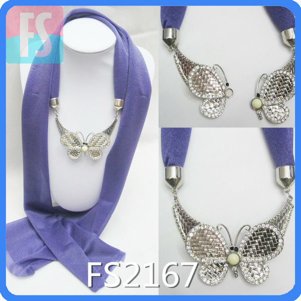 fashion magnet scarf with Butterfly Pendant design magnet clip for scarf