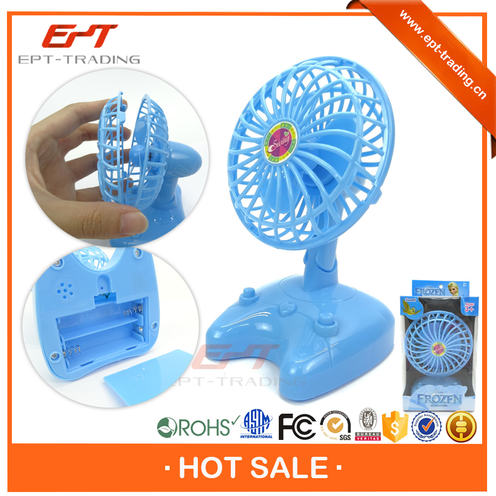 Wholesale top quality plastic battery operated mini toy fan for kids