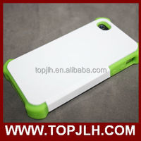 for iphone Full Size Printing case/ sublimation 3D 2 in 1 case for Iphone 4/4S