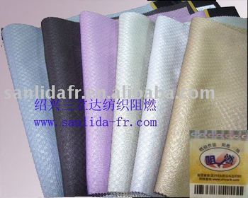 Fire Retardant Jacquard Blackout Curtain fabric