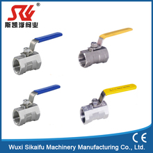 SS304 manual 1 piece stainless steel manual ball valve for gas water with long working life
