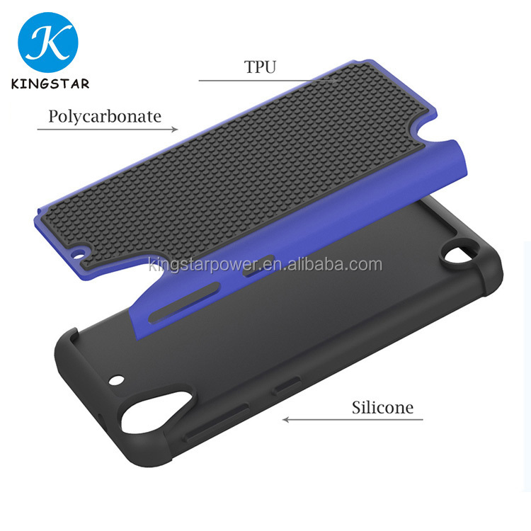 Free Sample Shockproof Silicone Combo Case Mobile Phone Case For HTC Desire 530