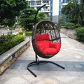 China Big Factory Sale Outdoor Hanging Round Swing Wicker chair