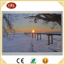 Natural winter scenery canvas led picture led winter scene canvas LED wall pictures