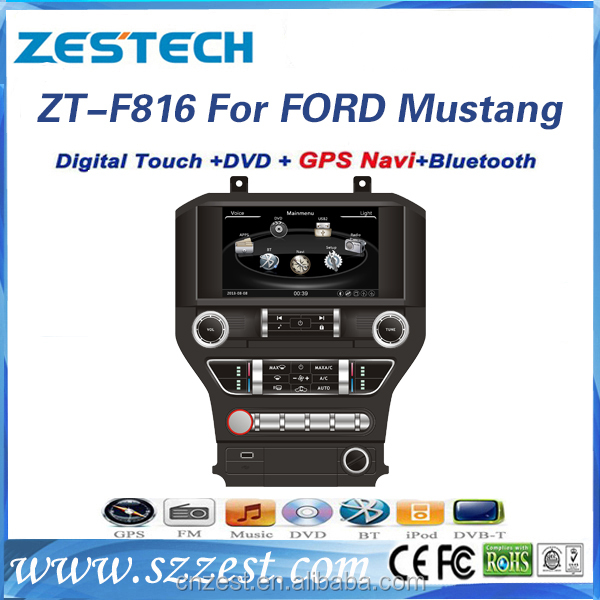 auto parts wholesaler Car Lcd Monitor for Ford Mustang 2015 with radio audio gps navigation BT mp3 TV multimedia