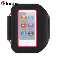 Adjustable pu leather sport armband case for iPod Nano