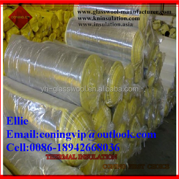 Glass wool Duct wrap with FSK foil backing