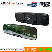 2.7 inch car driving recorder and rearview mirror car video recorder 5 mega pixels