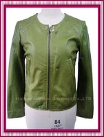 Genuine lamb leather jackets for ladies with rivet on shoulder