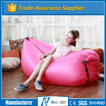 Hot sale! factory direct nylon 210T inflatable banana sleeping bag