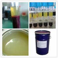 blood coagulant liquid/polymer gel tube for serum separation