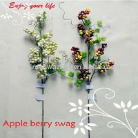 2013 Spring Artificial Mixed Berry Leaves Sprays,artificial flower berry sprays
