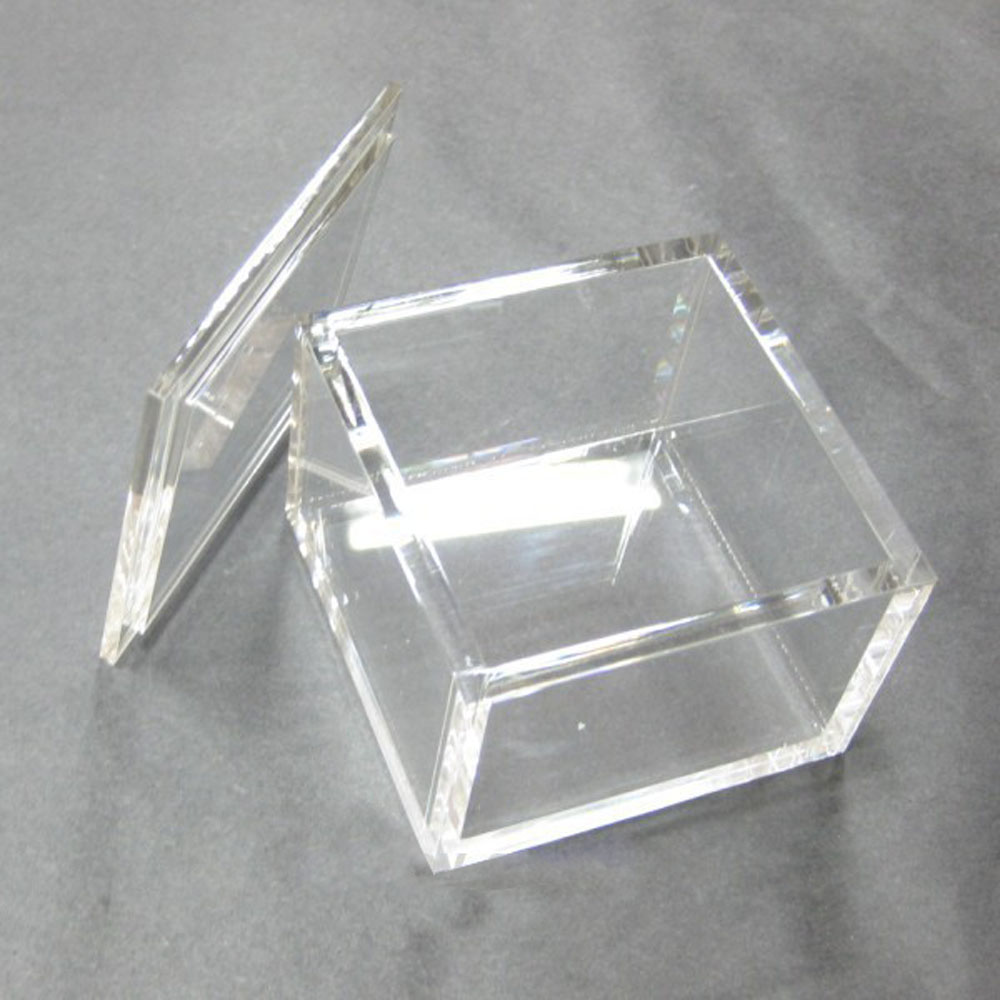 Acrylic Box Lid : Customized colored and clear square small acrylic box with