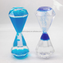 Diamond shape Acrylic Reverse Flowing Hourglass Liquid for Kids
