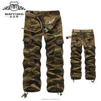 2016 High Quality Mens Custom Cotton Cargo Pants with Stripes