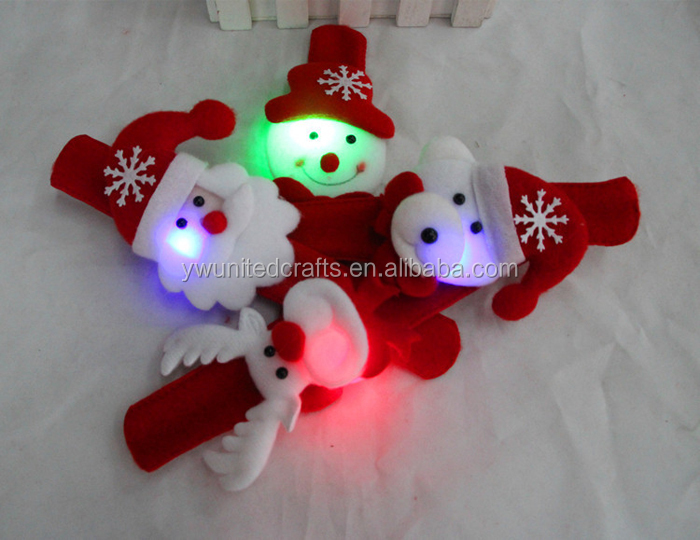 2015 new year promotional gift Christmas led flash Snap slap bands