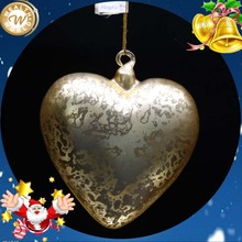 glass heart shaped wedding dripping decoration