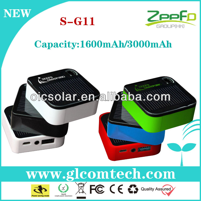 1000mAh/3000mAh solar cell phone charger from china supplier and manufacture