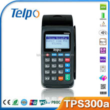 Telepower TPS300A EMV PCI certified POS system, smart chip card reader writer, handheld pos cash register