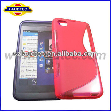 Hot selling S line tpu gel case cover for Blakberry A10
