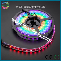 60led 5v ws2812b Digital Scrolling Colour Changing RGB LED Strip Lights