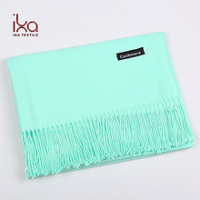 Big Size Warm Solid Color Soft Hand Feel Fake Cashmere Winter Scarf Women