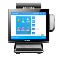Micropos B15-II 15 inch touch panel double screen point of sale terminal, pos terminal