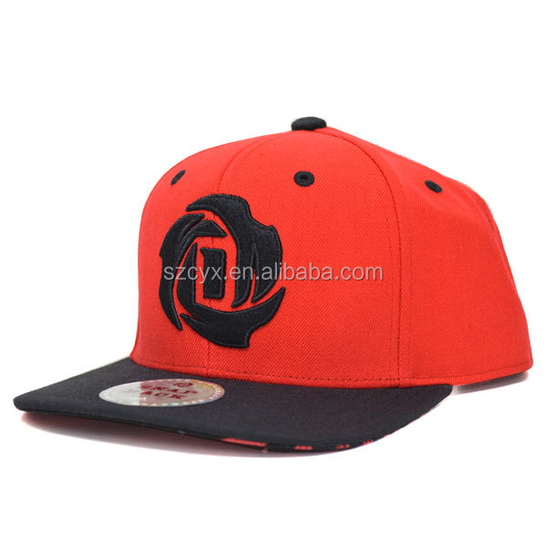 fashion custom flat brim snapback fitted baseball caps/hats