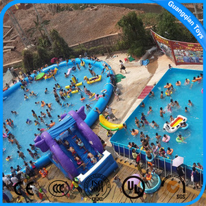 Commercial Used Inflatable Large Water Park Bracket Frame Pool