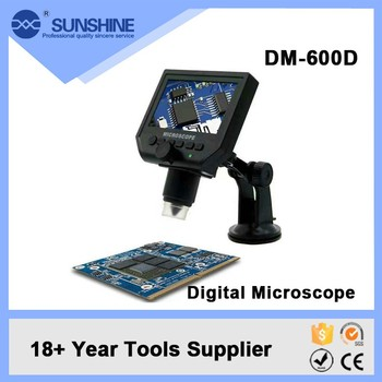4.3 Inch Lcd Display Mini Scanning Electron Digital Optical Microscope With 8 Led Light