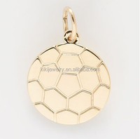 Wholesale alibaba supplier gold custom soccer ball charm