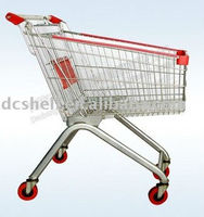 90 Liter Powder Coated Supermarket Shopping Cart