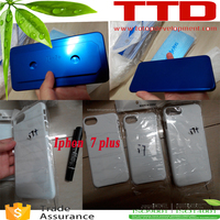 DIY blank Sublimation Mobile Phone Case for iphon 7 plus ,cellular phonecase printing mould jig