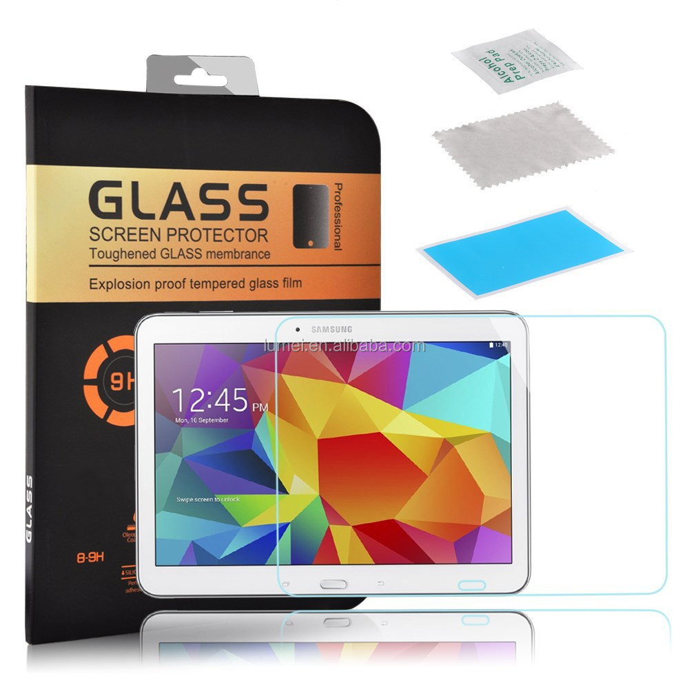 Genuine Premium High Clear Tempered Glass Screen Protector For Samsung Galaxy Tab 4 10.1
