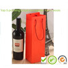 2014 new eco friendly big red glass wine bottle packaging bag