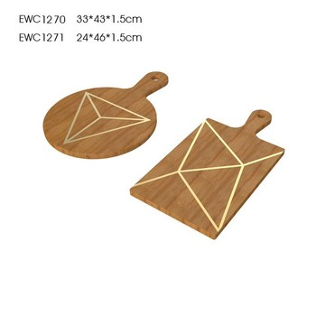 Wood food tray with triangular food warmer tray platic food tray