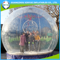 Fashionable design outdoor snow globe inflatable decorations for christmas holiday