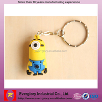 NBC Universal audit factory for minion toys, plastic Keychain figure,oem plastic toy Keychain figure
