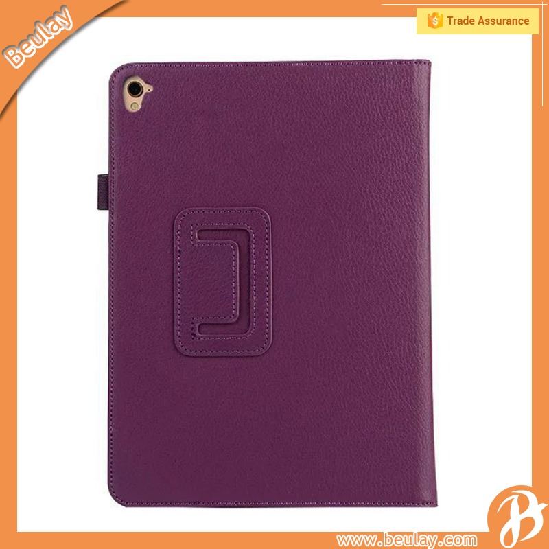 Lychee pattern holder leather case for ipad 3 cover pro 9.7