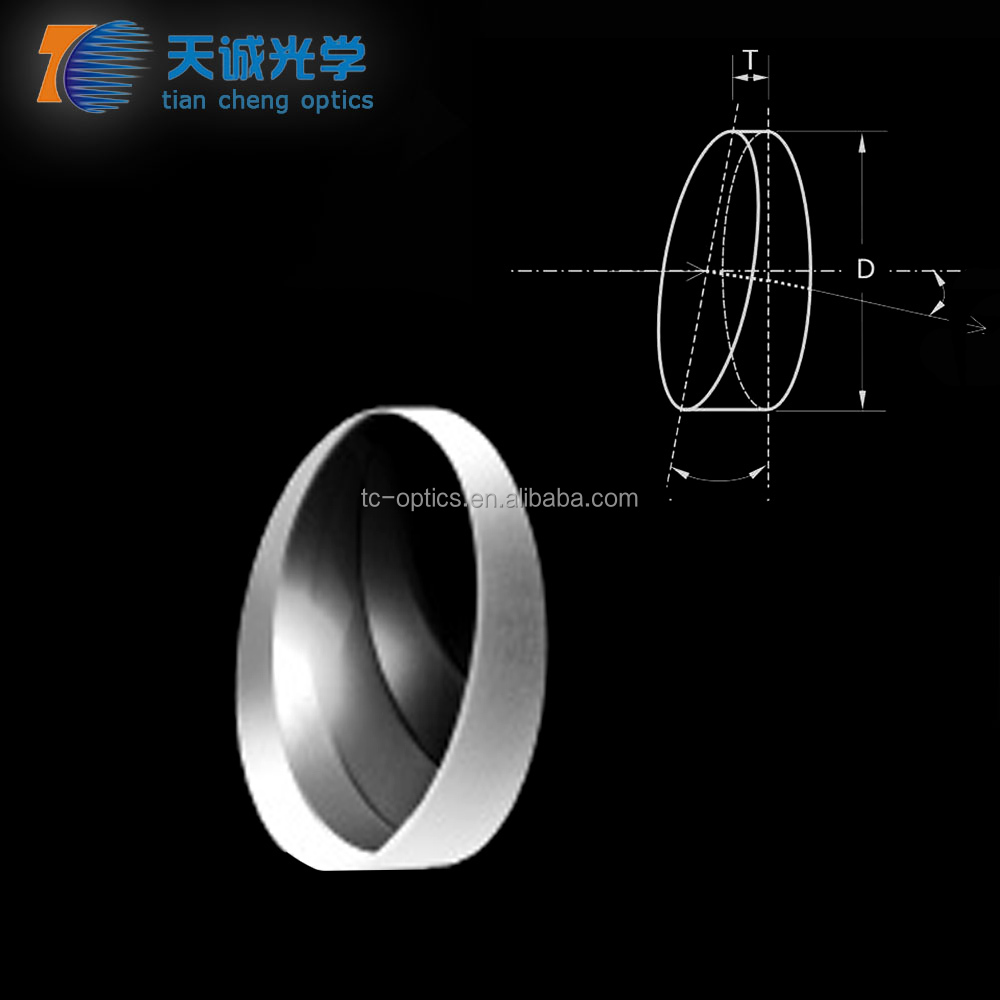 Precision Plastic /Optical Glass Wedge Prism with Broadband AR Coating