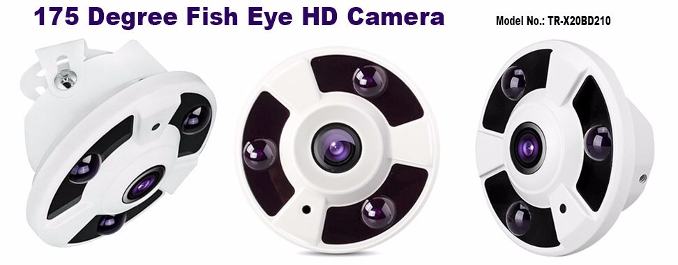 Fisheye AHD Camera 2.0MP 1.7 mm lens Dome Camera 4 in 1 CCTV Camera Support AHD/CVI/TVI/CVBS TR-X20BD210