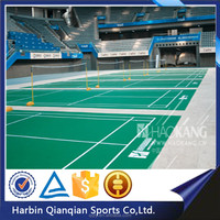 2015 new environmental plastic sports floor,low price pvc sports floor for badminton