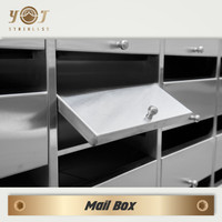 professional 304# stainless school mailbox with label