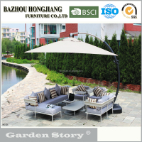 084S Wicker Rattan Garden Sectional Sofa Sets Outdoor Furniture