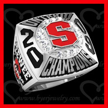 custom s logo sports ring jewelry championship style 2016