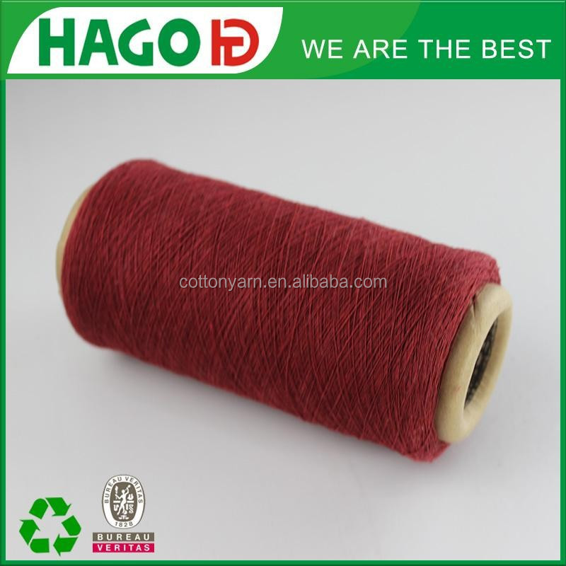 Ne6s oe viscose poly cotton blended yarn for labor glove